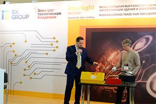 Moscow стенд IEK Lighting посетил заместитель министра строительства и жилищно-коммунального хозяйства Российской Федерации Андрей Чибис