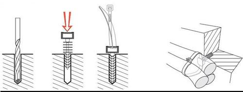 Дюбельные базы БД IEK: надежное крепление кабельных стяжек
