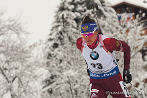 У женщин в масс-старте Екатерина Юрлова-Перхт тоже в первой десятке – на 8 месте