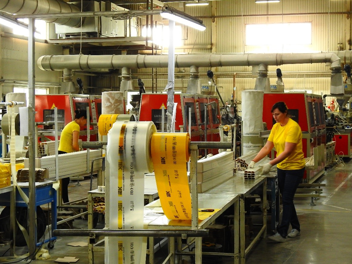 В Тульской области на предприятии IEK GROUP запущено производство гофротруб для подземных кабельных трасс