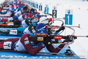 В женской эстафете сборная России в первой пятерке