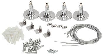 Комплект крепежей для подвесного монтажа световой панели IEK