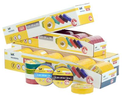 Изолента IEK®: теперь в упаковке